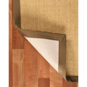 NaturalAreaRugs Natural Sumatra Sisal Rug- Handmade, Beige Canvas Border, Mitered Corners, Non-Slip Latex Backing, Durable, Earth/Eco-Friendly (5 Feet X 8 Feet)