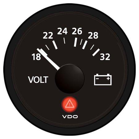 VDO VIEWLINE ONYX 24V VOLTMETER