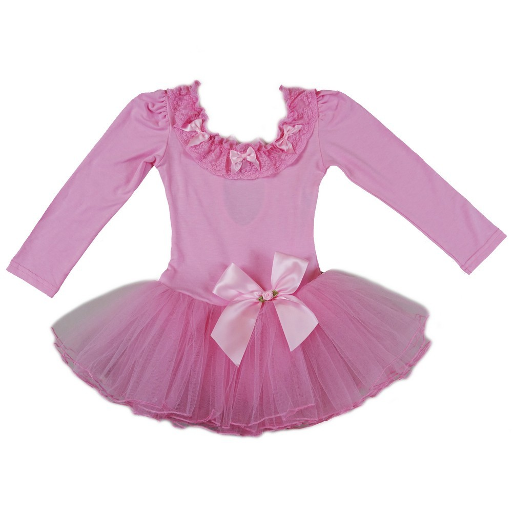 wenchoice Baby Girls Pink White Bow Ruffles Swing Top Set 9-24M