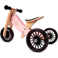 Kinderfeets Tiny Tot PLUS 2-in-1 Balance Bike and Tricycle, Rose
