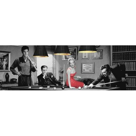 Chris Consani Legal Action Presley Bogart Monroe Dean Billiards Poster   62X21 Inch