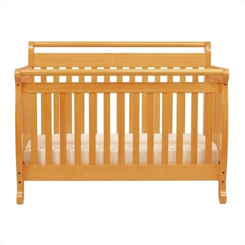 Conversion Kit Bed Rails for Davinci Emily 2-in-1 Mini /& 4-in-1 Crib Cherry