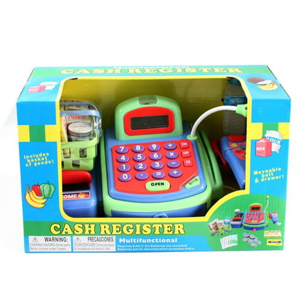 Electronic Cash Register Toy scanner and Credit Card Reader Realistic  Actions & Sounds learning toy cash register for kids (26pc) (US Seller)
