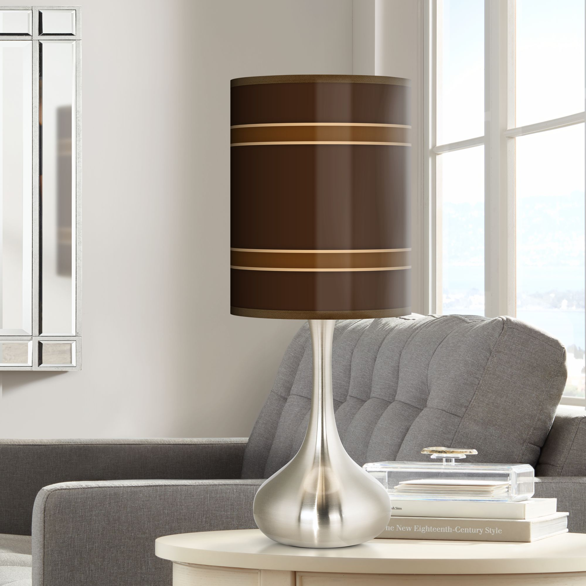Giclee Glow Saratoga Stripe Giclee Droplet Table Lamp