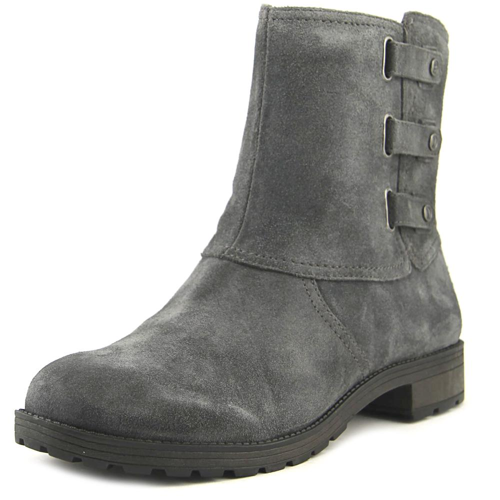 Naturalizer Tynner Women Round Toe Suede Gray Ankle Boot by Naturalizer