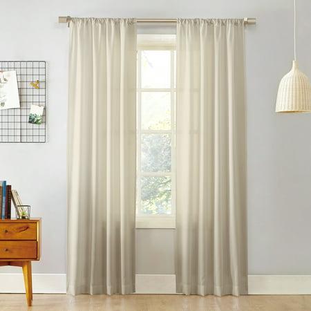 No. 918 Khloe Semi-Sheer Rod Pocket Curtain Panel