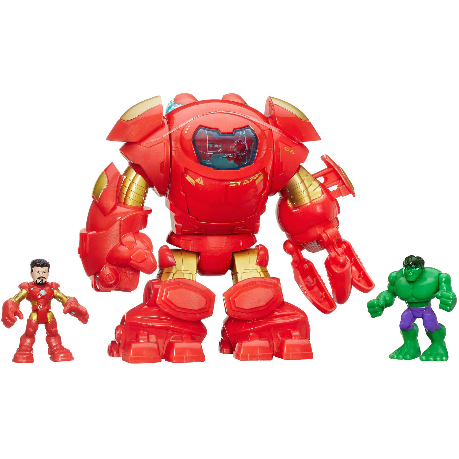 Playskool Heroes Marvel Super Hero Adventures Stark Tech Armor with Tony Stark Figure