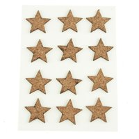 Self Adhesive Natural Cork Star Tags, 1-Inch, 12-count