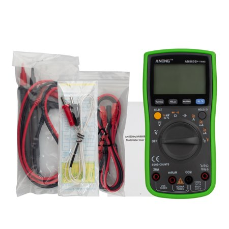 Ustyle Backlight Digital Multimeter AC/DC Current Voltage Resistance Frequency Temp Tester LCD 6000 Counters - image 1 of 9