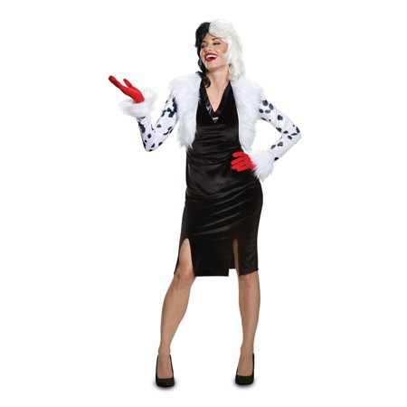 Disney Villains Cruella De Vil Deluxe Adult Halloween - Disfraces Baratos De Halloween