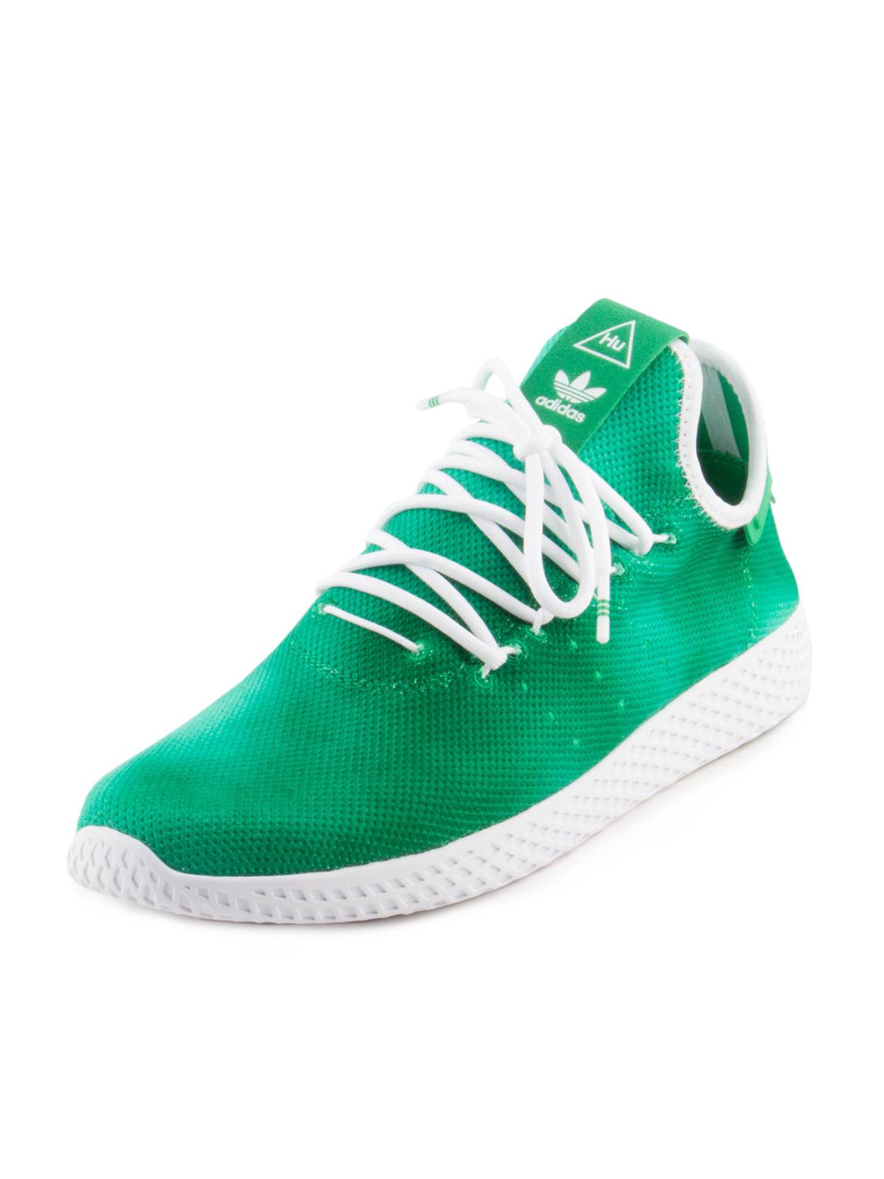 Adidas Mens PW HU HOLI Tennis HU Pharrell Williams Green White DA9619 by Adidas
