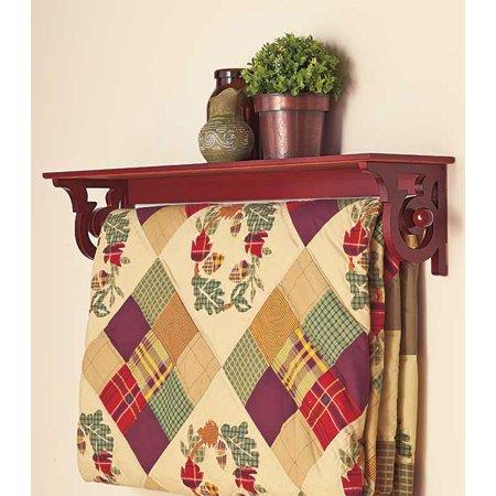 Deluxe Quilt Rack with Shelf -