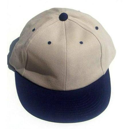 Tan And Blue Baseball Cap