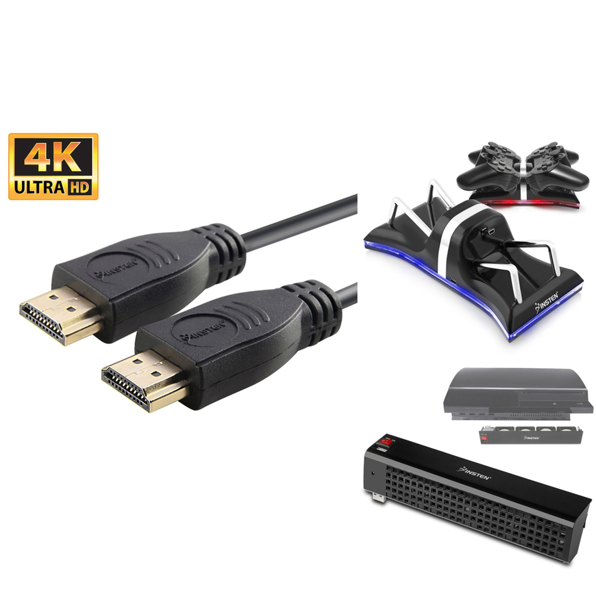 1d5f512d Insten For PlayStation 3 PS3 - Dual Remote Controller Charger Dock + ...