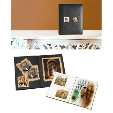 Leather Album Designs PD26171114320B Peel And Stick Self Mount 11X14 Black Bonded Leather Album 20 Pg - 40 Sides