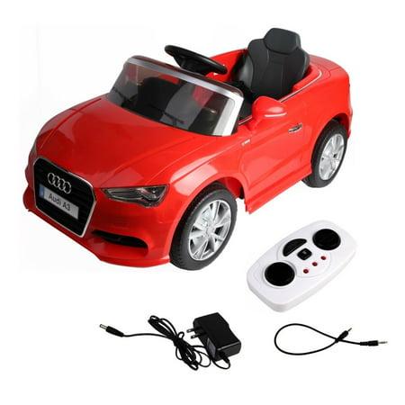 Goplus 12V Audi A3 Licensed RC Kids Ride On Car Electric Remote Control LED Light MP3 Music ()