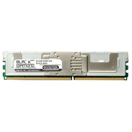 1GB RAM Memory for Tyan Tank FT48 (B5382), GT14 (B5372-LC), GT20 (B5372), GT20 (B5372-H), GT20 (B5372-LC) 240pin PC2-4200 DDR2 Fully Buffered FBDIMM 533MHz Black Diamond Memory Module - Rank Original Memory Module