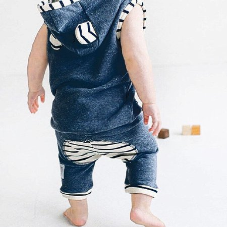 Newborn Toddler Kids Baby Boys Girls Outfits T-shirt Tops+Pants Clothes Set Outfit