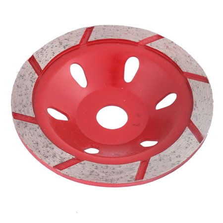Unique Bargains Diamond Cutting Disc 4 Inch Dia 5Mm Thickness Saw Cutter Red Silver Tone