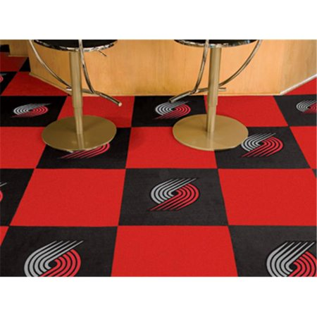 Fanmats 9392 Portland Trail Blazers Carpet Tiles 18 In  X 18 In  Tiles