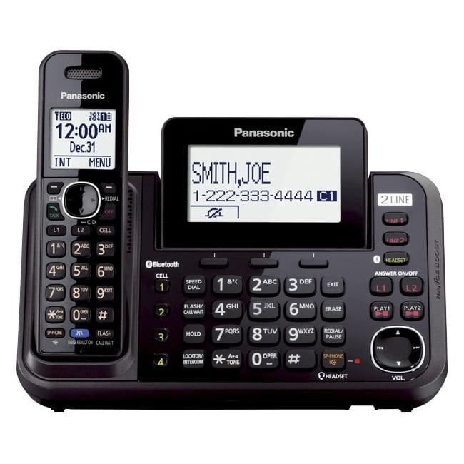 Panasonic Link2Cell 2-Line Cordless Phone, 1 Handset