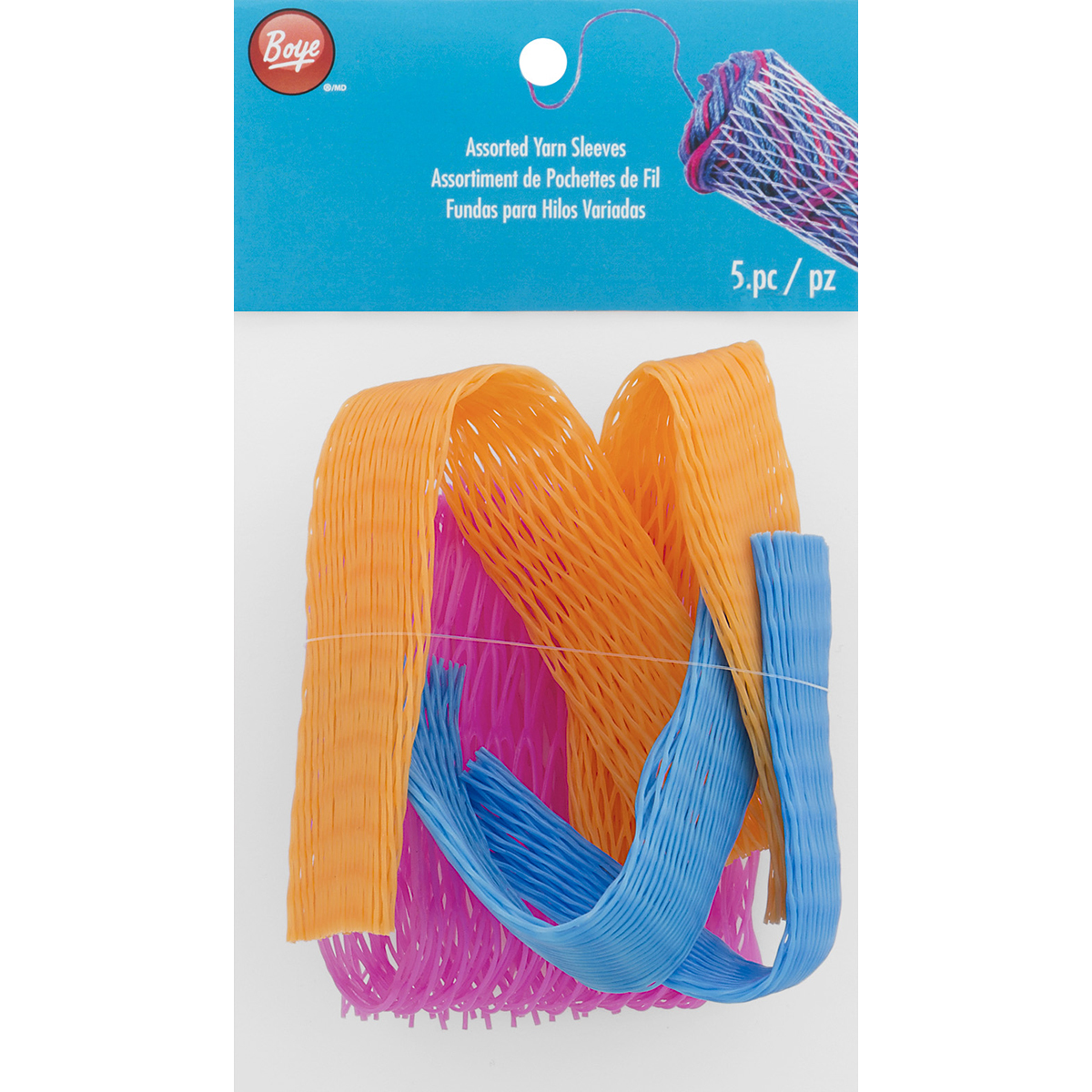 Assorted Yarn Sleeves-5/Pkg