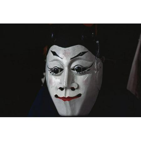 Male Mask Worn During Dixi Performance (Ground Opera), Chinese Folk Opera, Guizhou Province, China Print Wall Art