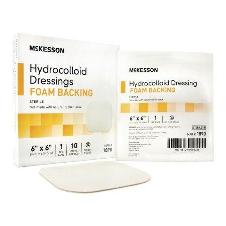 McKesson Hydrocolloid Dressing 6 X 6 Inch Square, Sterile, 1 Piece