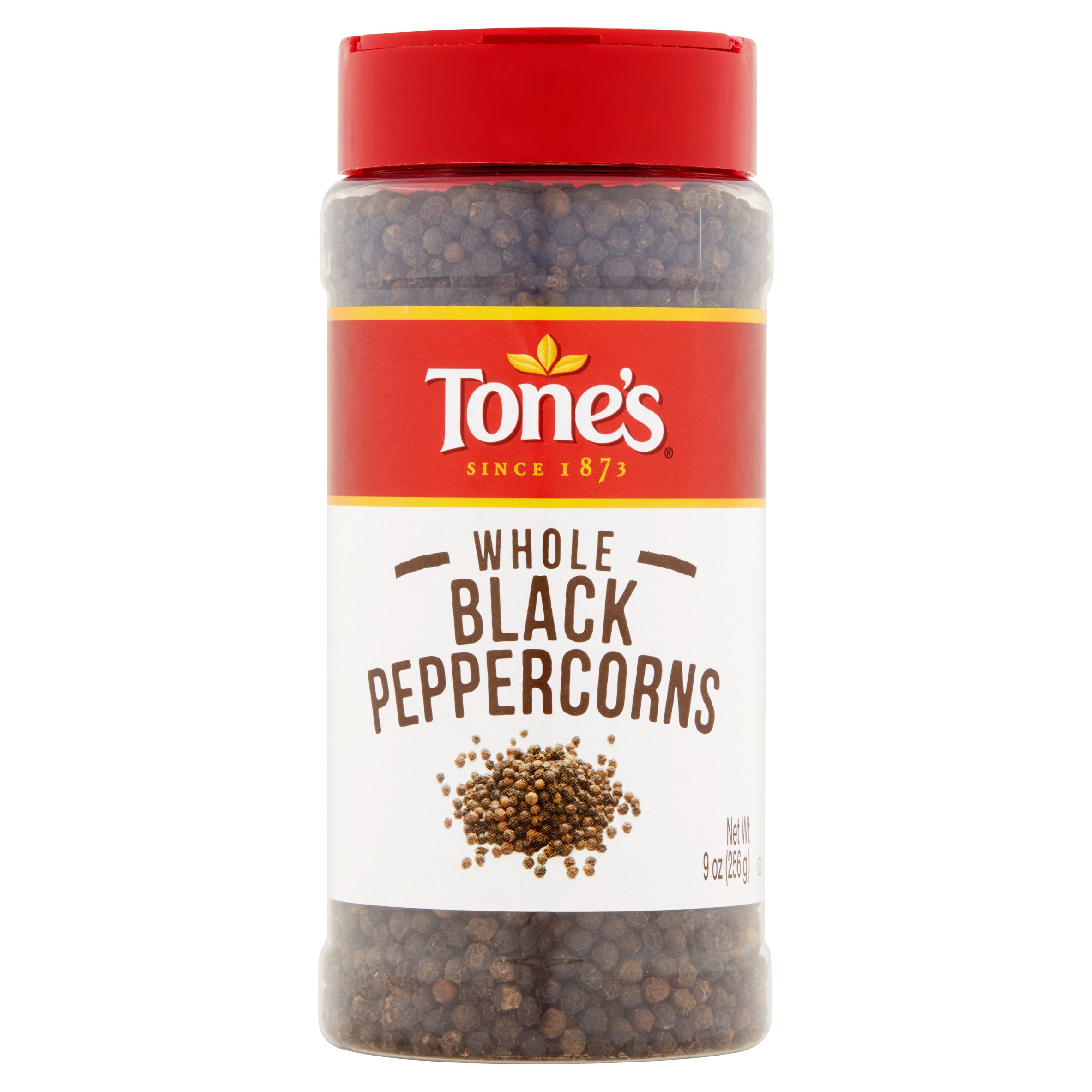 Tones Whole Black Peppercorns, 9 oz