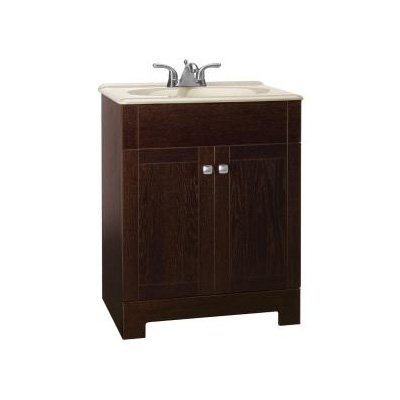 American Classics Renditions Single Bathroom Vanity With Wheat Solid Surface Top 24 In