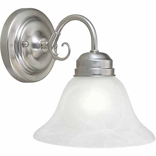 Design House 511618 Millbridge 1-Light Vanity, Satin Nickel Finish