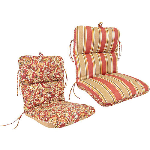 Jordan Manufacturing Reversible Deluxe Outdoor Patio Chair Cushion