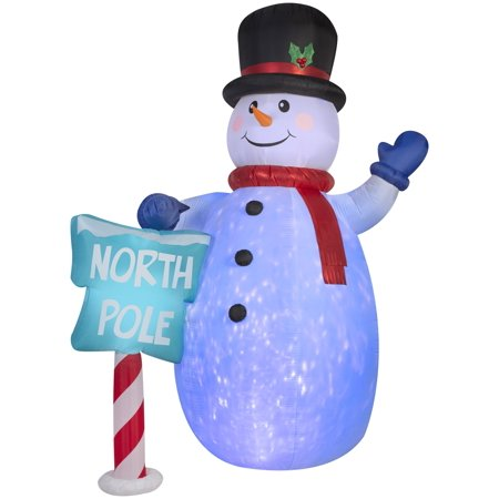 10' Giant Airblown Kaleidoscope Snowman Christmas Inflatable