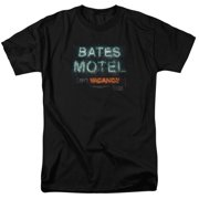 Psycho Bates Motel Distressed Mens Short Sleeve Shirt