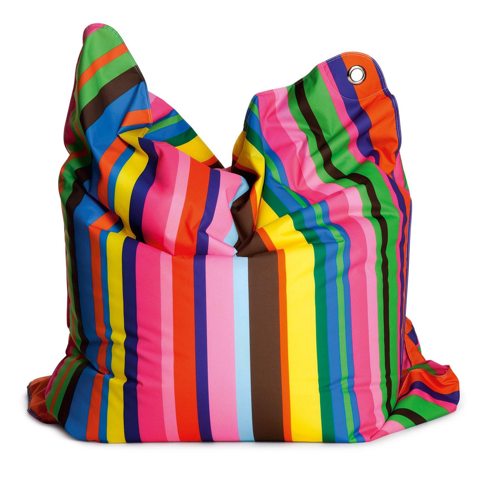 THE BULL Large Fashion Bean Bag Chair - Fashion Candy Stripe
