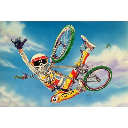 Dirt Bike Birthday Party Supplies (Extreme BMX Bicycle Dirt Bike  Cake Topper Edible Frosting Image 1/4 Sheet)