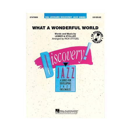 Hal Leonard What a Wonderful World Jazz Band Level 1.5 Arranged by Rick Stitzel