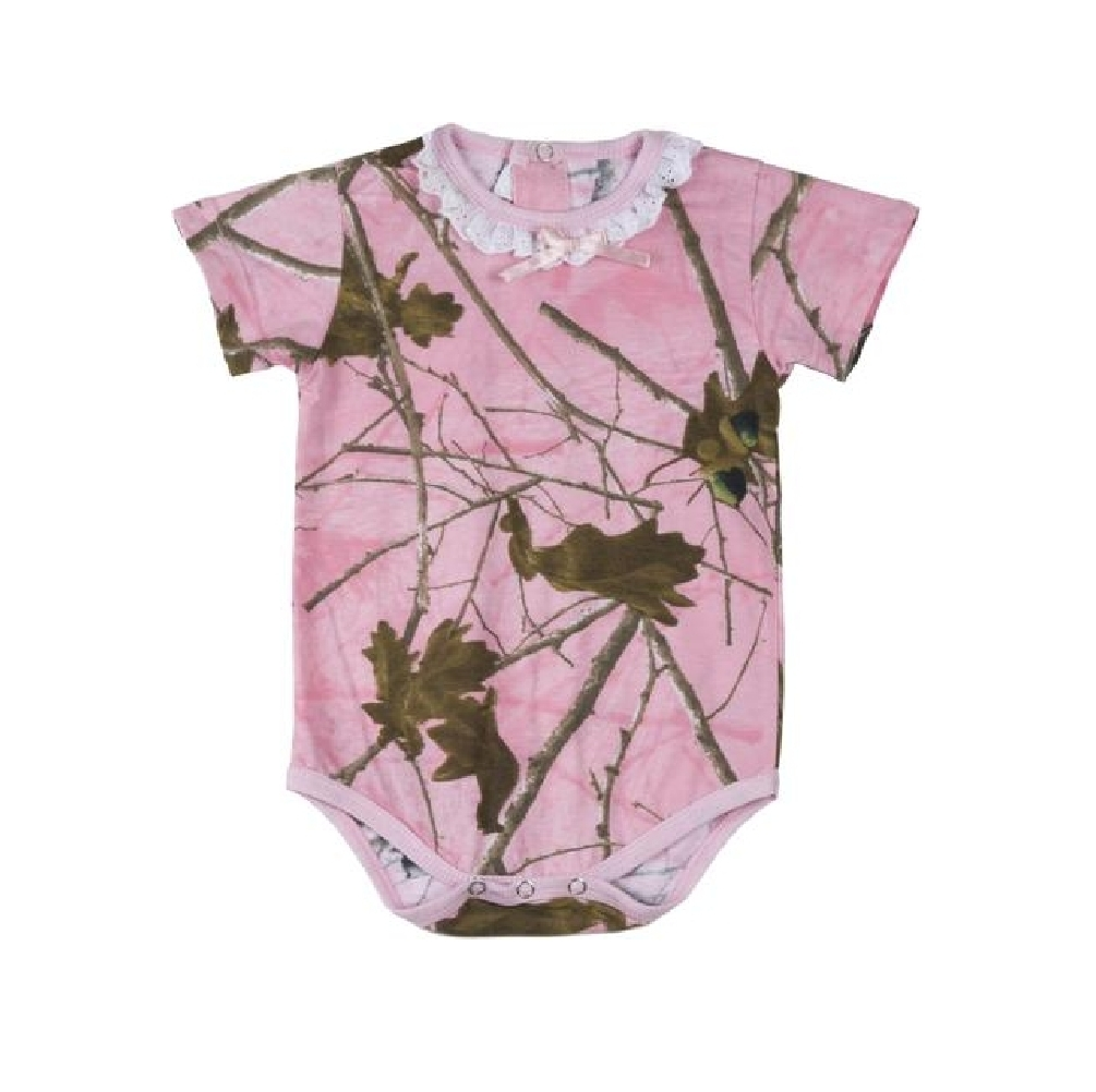 Highland Timber Pink Camo Baby Girls Bodysuit 6 to 12 Months