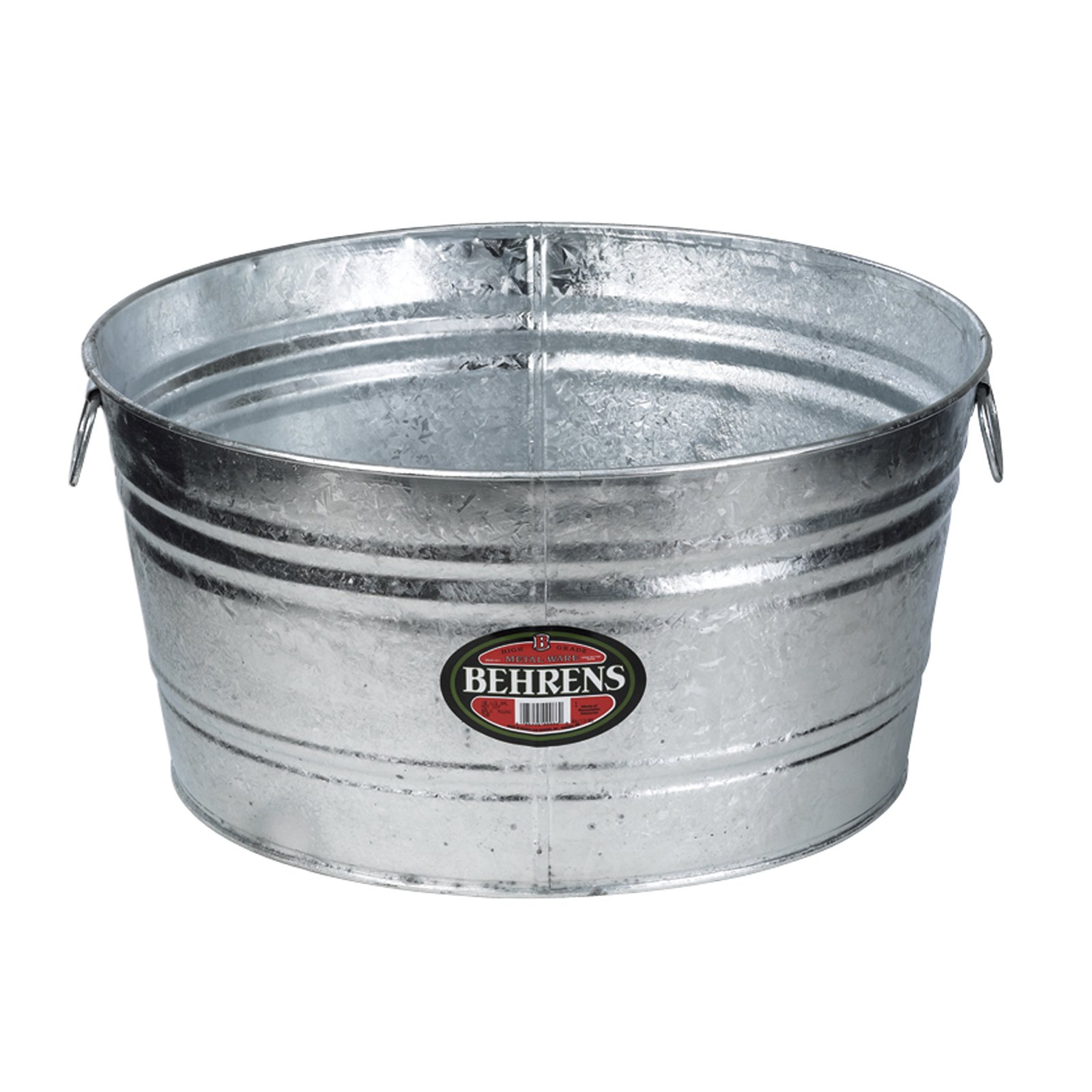 Behrens Hot Dipped Steel Round Beverage Tub