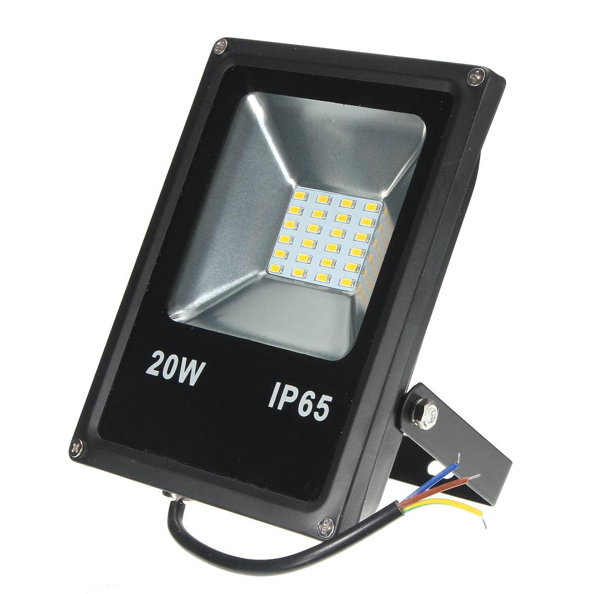 20 Watt LED Flood Light Waterproof Outdoor Garden Yard  Landscape Security Spotlight Equit 100Watt Halogen light