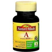 Nature Made Vitamin A 8000 I.U. Softgels 100 Soft Gels (Pack of 2)