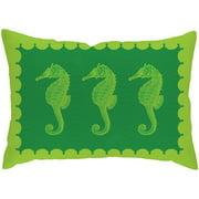 Checkerboard, Ltd Seahorses Lumbar Pillow