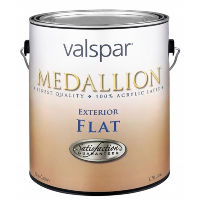 Valspar Brand 1 Gallon Flat Clear Base Medallion Exterior Latex House Paint 27-4 - Pack of 4