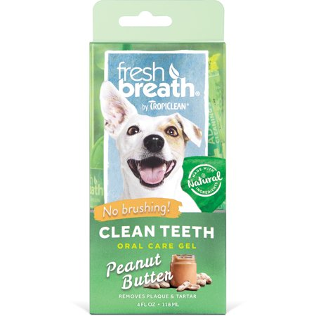 Fresh Breath by Tropiclean Peanut Butter Flavor Clean Teeth for Dogs, 4