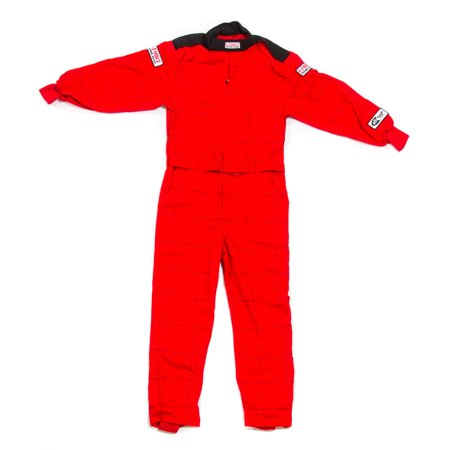 G-Force Red Small Single Layer GF145 1 Piece Driving Suit P/N