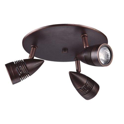 DVI Lighting DVP2783 Three Light Track Light On Pan from the Bullet Collection by DVI Lighting