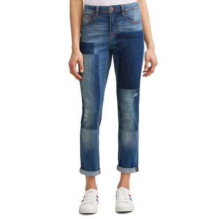 Alex Relaxed Vintage Patchwork Jean Women's (Medium Wash) ()