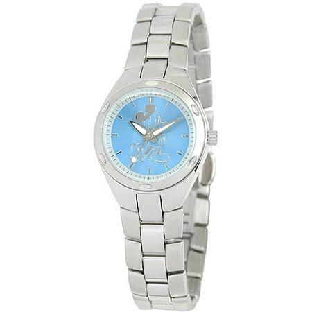 Mickey Mouse Women's Fortaleza Stainless Steel Watch, Silver Bracelet