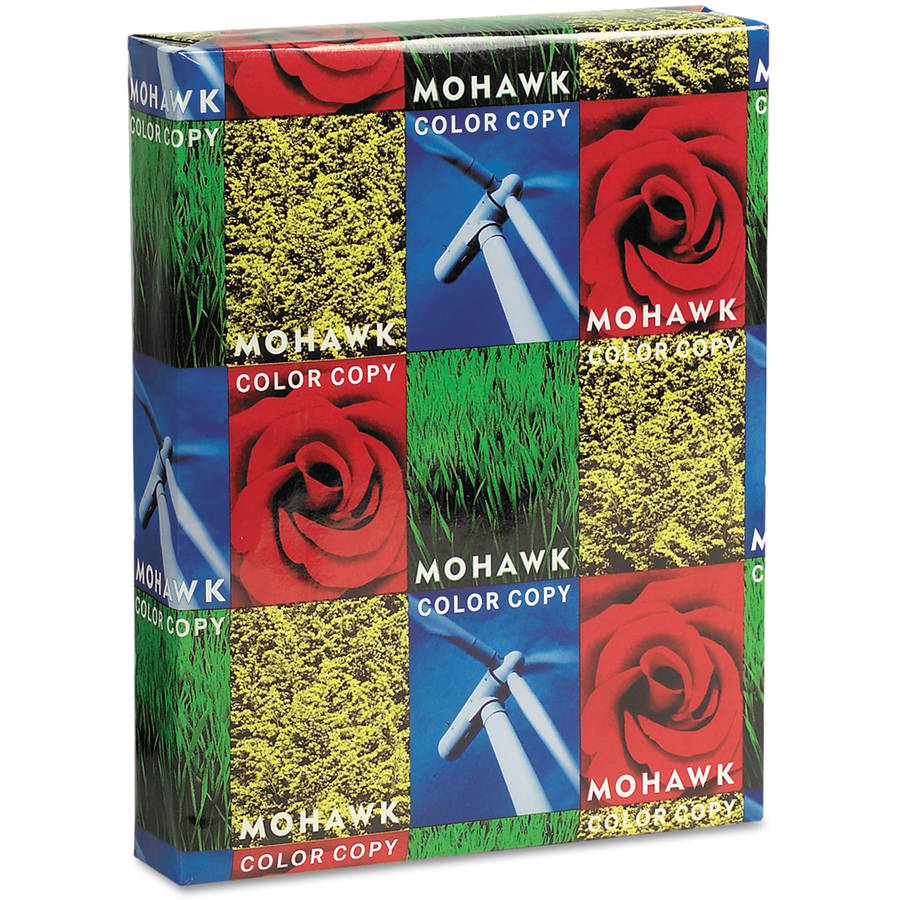"Mohawk Color Copy Gloss Paper, 94 Brightness, 8-1/2"" x 11"", Pure White, 500 Shts/Rm"
