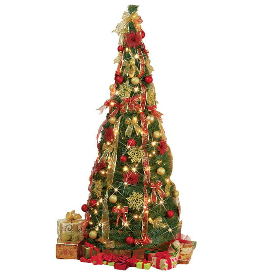 - Collapsible Pop Up Christmas Tree 6 FT - With Lights, 6 Ft - Walmart.com